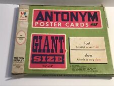 Vintage Milton Bradley Antonym Cards Game  1968 Excellent Condition