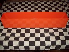 "16"" ORANGE TOOL BOX AEROSOL SPRAY CAN HOLDER snap 2 use- hang on side PAINT"