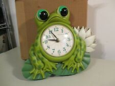 Vintage New Haven Frog Clock Electric Wall Plaque Retro original box No Reserve