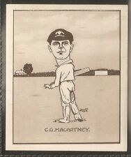 HILL-CARICATURES OF FAMOUS CRICKETERS (LARGE CARD)-#07- NEW SOUTH WALES MCARTNEY
