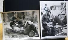 "2 VINTAGE 8""X10"" STUDIO PHOTOS JOHN ERICSON PIER ANGELI WWII WAR MOVIE   (A"