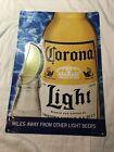 Vintage Corona Light Beer Tin Sign 24 1/2 x 17 1/2