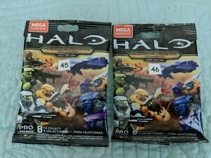 2 Halo Mega Construx Clash on the Ring  #45&46,Flood Inflection&Covenant Cruiser