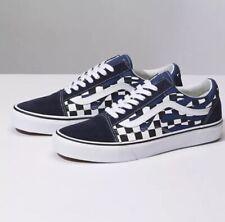 3d9ee79ba1 Vans Old Skool Checker Flame Board Navy Blue White Mens Size 10.5