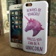 Apple iPhone 6 Unicorn Case Rubberised Hardened Protective Bumper Designer White