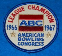 League Champion 1966 1967 ABC American Bowling Congress Embroidered Patch
