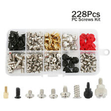 228pcs Computer PC Screws Bits Kit for Motherboard Case Fan Hard Disk Notebook