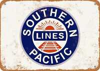 9x12 Metal Sign - Southern Pacific Railroad - Rusty Look