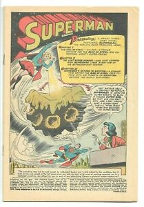 SUPERMAN #123, 1st app. Supergirl!  Coverless Reader Issue, 1958 DC Silver Age