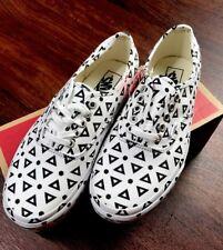 eb0187d3e258ae VANS Authentic Mono Print Geo Black White Canvas Shoes Womens 8 Mens 6.5