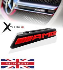 Mercedes AMG Front Grill Badge Emblem W176 W205 W212 W117A45 C63 E63 CLA 45 RED