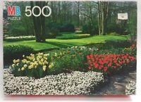 1987 MB CROXLEY 500 Piece Jigsaw Puzzle Keukenhof Holland 4611-9 Garden SEALED