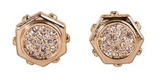Gold Plated Authentic New 7319a Swarovski Elements Crystal Hexagon Stud Earrings