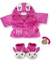 Teddy Bear Clothes fits Build a Bear Teddies Candy Bunny Robe & Rabbit Slippers