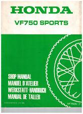 Manuel d'atelier HONDA VF 750 Sports