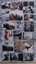 "24"" X 44"" Wildlife Nature Call of the Wild Digital Cotton Fabric Panel D482.11"