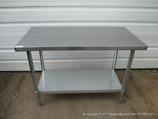"New Stainless Steel Work Prep Table 48"" x 24"" , NSF"