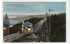 SOUTH QUEENSFERRY HALT: West Lothian railway postcard (C27268)