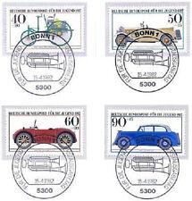 BRD 1982: Kraftfahrzeuge! Jugendmarken Nr 1123-1126! Bonner Sonderstempel! 1806