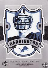 2003 JOEY HARRINGTON DETROIT LIONS UPPER DECK NFL PATCH