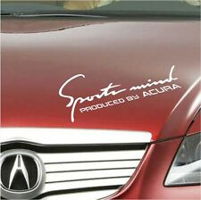 Acura Decal Sports Mind Produced by Acura Logo Sticker WHITE RLX TL TSX ILX M1