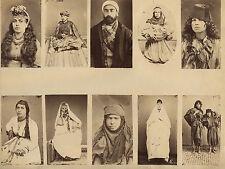 Moyen-Orient Turquie Egypte Att. à Sébah Planche avec 10 cdv albumen circa 1870