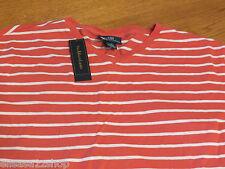 Men's Polo Ralph Lauren T shirt v neck logo soft XL NEW 0480942 VNJSY1 shrimp