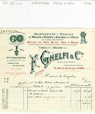 Paris III ème 47 Rue de Saintonge - Petite Entête Manufacture de Meules de 1926