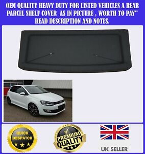 NEW PARCEL SHELF TO FIT VW POLO 6R 2009-2018 BOOT LOAD LUGGAGE COVER BLACK