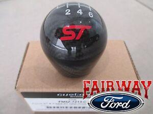 13 thru 19 Fiesta Focus ST OEM Ford Carbon Fiber 6-speed Gear Shift Knob w/ Logo