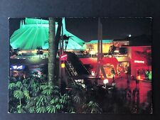 DISNEYLAND obsolete postcard 1987 SPACE MOUNTAIN AND CAPTAIN EO AT NIGHT