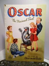 """1948 Oscar Trained Talking Seal On The Radio Whitman HB Book Lots of """"S"""" Sounds"""