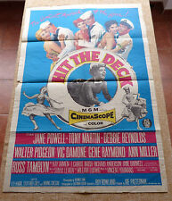 Hit the Deck Movie Poster, Original, Folded, One Sheet, year 1955, Made in USA