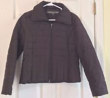 Kenneth Cole Down Puffer Jacket Coat Reaction Down Dark Brown Full Zip Size M