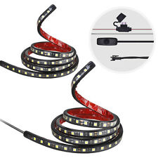 "2x 60"" White LED Strip Light Bed Lamp Lighting Kit On-Off Switch Fuse Truck Car"