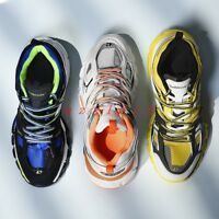 Men Round Toe Lace Up Sneaker Athletic Shoe Casual Running Stylish Multi color