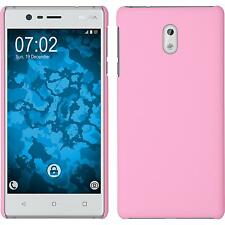 Hardcase Nokia 3 rubberized pink Cover + protective foils