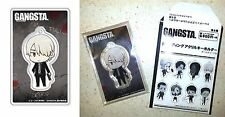 GANGSTA. Trading Acrylic Key Chain Delico Canaria Bandai Visual Licensed New