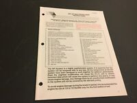 Arctic Cat Snowmobile Setup and Predelivery Instructions '96 EFI Models