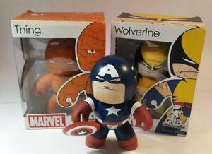 Hasbro Marvel Mighty Muggs The Thing Captain America Wolverine 3 Vinyl Figures