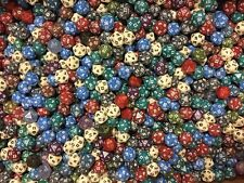 Lot Of 50 Assorted Twenty Sided Dice D20 RPG Opaque Speckled And More...