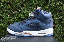 AIR JORDAN 5 RETRO V GS SZ 5.5 OBSIDIAN GRAPE WHITE METALLIC BRONZE 440888 416