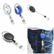 New Retractable Reel Pull Key ID Card Badge Tag Clip Holder Carabiner Style