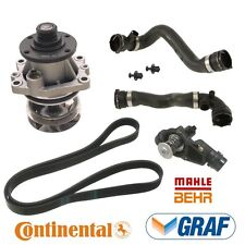 BMW E46 3 Series Cooling System Kit Water Pump Thermostat Upper Lower Hoses Belt