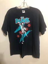 Rare CM Punk Zombie Killer Blue Graphic T-Shirt Large