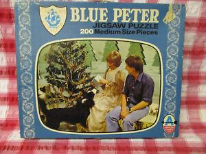 RARE BBC TV BLUE PETER Vintage 1975 Jigsaw Puzzle 200 pieces -COMPLETE CHRISTMAS