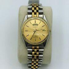 Vintage Seiko Quartz Japan Movement Day/Date Mens Wrist Watch #5Y23-8A69 A4 Runs