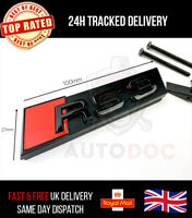 Audi RS3 Gloss Black Grille Badge