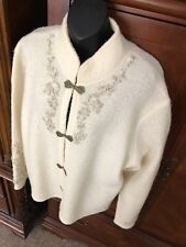 Coldwater Creek Sweater Jacket 3x Embroidered!