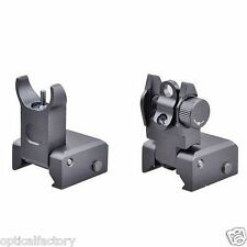 ProSeries!  Flip Up Front Rear Iron Sights Set for setting on picatinny rail